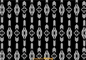 White Aztec Pattern On Black
