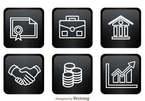 Bank Icons On Black Squares