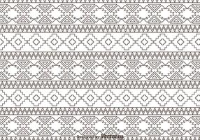 Outline Aztec Ornament Pattern