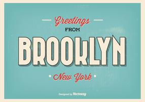 Brooklyn New York Greeting Illustration