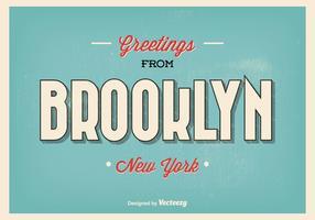Brooklyn New York Greeting Illustration