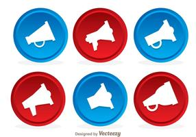 Megaphone Button Icon Vectors