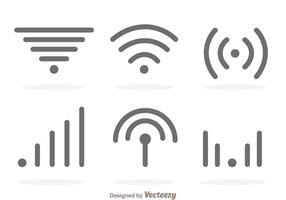 Simple Wifi Gray Logo Vectors