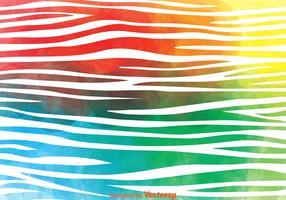 Colorful Zebra Print Vector