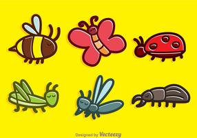 Cute Insect Cartoon Vectors