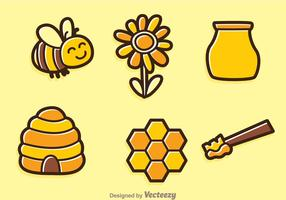 Spring Bee Vector Icons