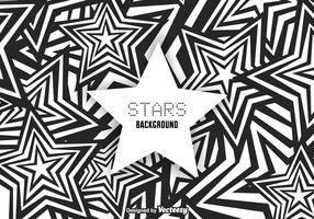 Free Funky Stars Background Vector