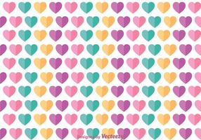 Flat Love Girly Pattern Vector