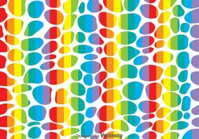 Rainbow Leopard Pattern Vector