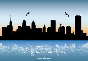 Buffalo New York Skyline Illustration