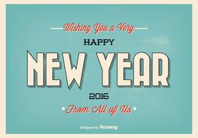 Vintage Typographic New Year Greeting Illustration