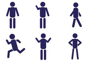 Man Icon Vector Set