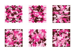 Free Pink Camo Vector Pattern