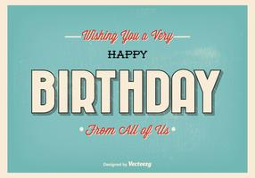 Typographic Birthday Greeting Illustration