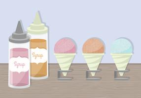 Snow Cone Cups Vectors