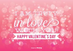 Beautiful Pink Bokeh Valentine's Day Illustration