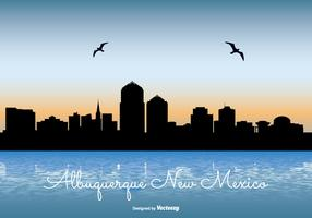 Albuquerque New Mexico Skyline Illustration