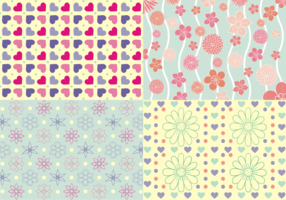 Girly Patterns Free Vector