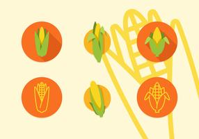 Ear Of Corn Vector Flat Icons