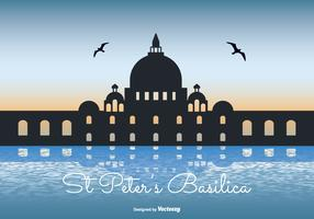 St Peter's Basilica Silhouette Illustration