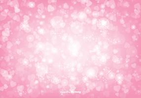 Beautiful Pink Bokeh Hearts Background Illustration