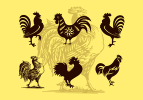 Rooster Illustrations Vector Silhouettes Free