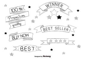Hand Drawn Best Seller Labels