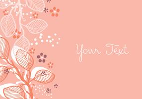Coral Floral Background Design