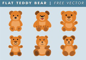 Flat Teddy Bear Free Vector