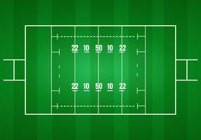 Rugby Pitch Vector