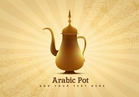 Arabic Coffee Pot Vector