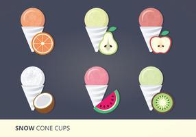 Vector Set of Snow Cones