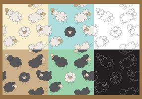 Vector Sheep Patterns