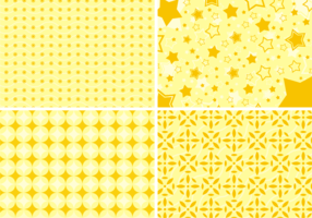Yellow Shapes Background Free Vector