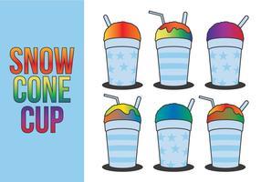 Snow Cone Cup Vectors