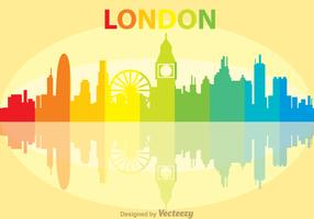 Colorful London City Scape Vector