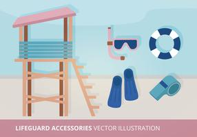 Lifeguard Accessories Vector Illustration