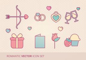 Romantic Vector Icon Set