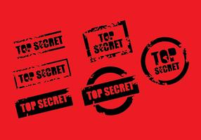 Top Secret Stamp Vector Set