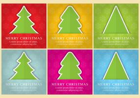 Christmas Tree Vector Cards
