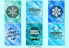 Winter christmas background templates