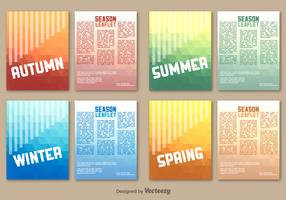 Seasonal leaflet template