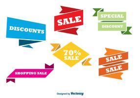Colorful sale banners