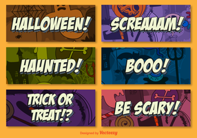 Halloween background cards