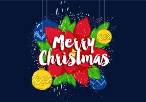 Free Merry Christmas Vector Poster