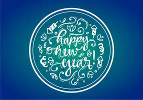 Free Happy New Year Vector Poster