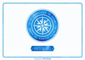 Free vector watercolor nautical label