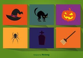 Halloween cartoon elements