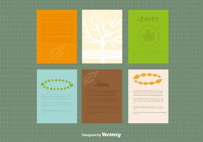 Autumn design leaflet