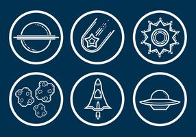Raum-Symbol Vektor-Set
